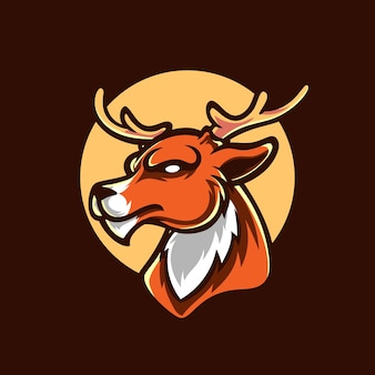 Deer head mascot logo design