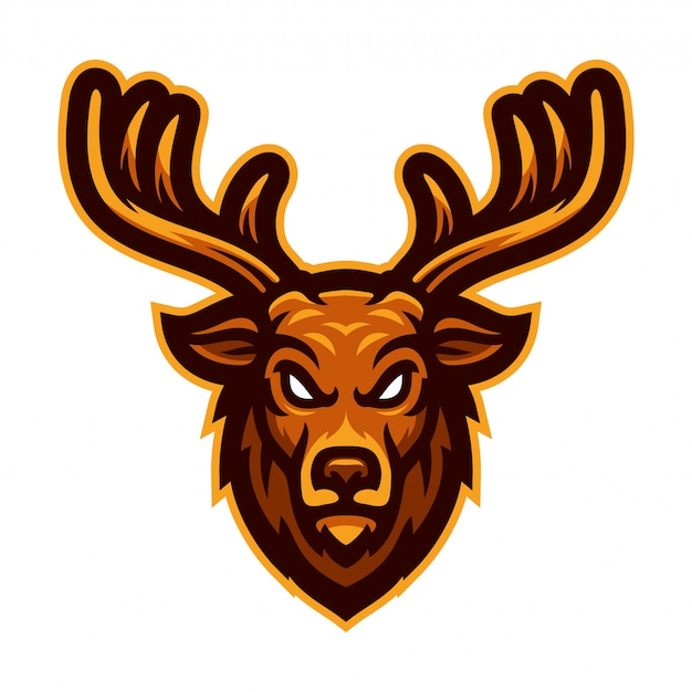 Deer head mascot vector illustration