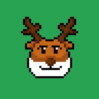 Голова оленя в стиле пиксель-арт