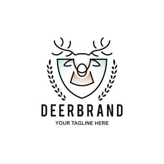 Deer head with shield log