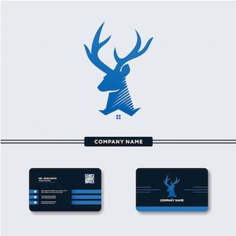 Deer Home Logo Vector Template