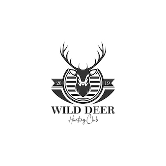 Deer hunt logo template