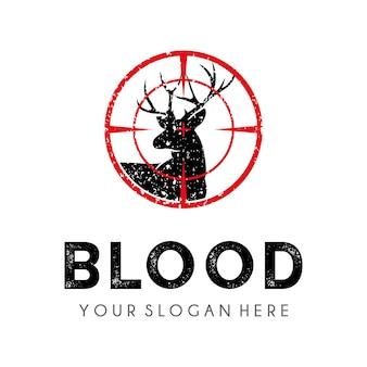 鹿狩りのロゴのデザインテンプレート