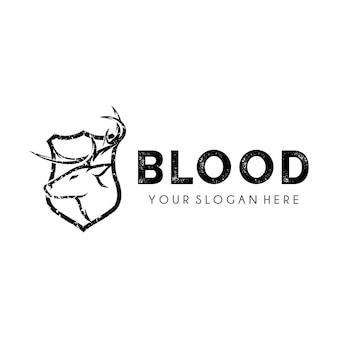 Deer hunter logo design template