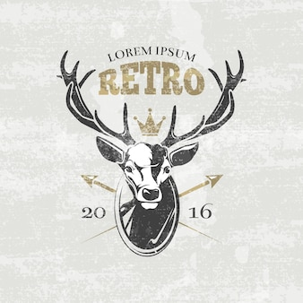 Deer hunters club label