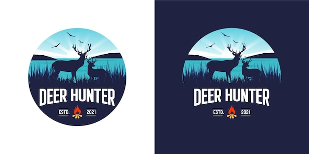 사슴 사냥 로고