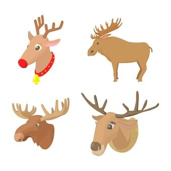 Deer icon set