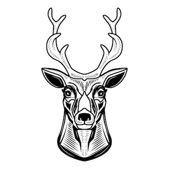 Deer icon  on white background.  element for logo, label, emblem, sign.  illustration