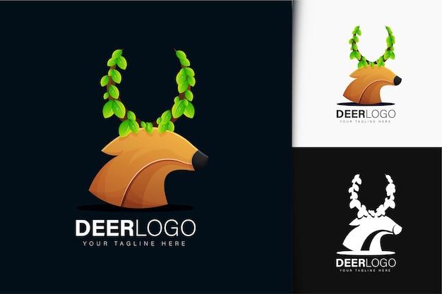 Deer and leaf logo design