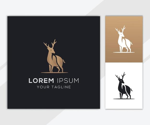Deer leaf logo template for company