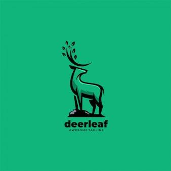 Deer leaf silhouette   logo.