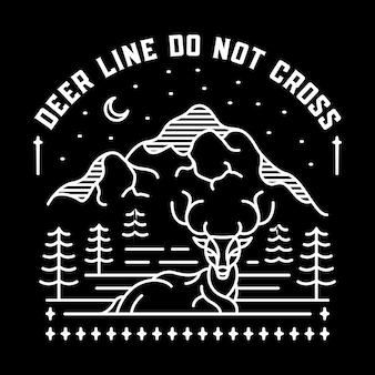 鹿のラインは交差しないでください