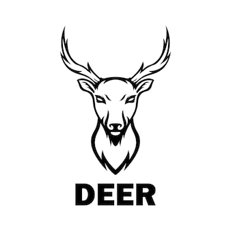 Deer logo animals