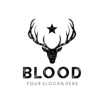 鹿のロゴのデザインテンプレート