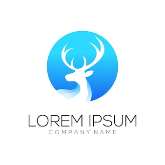 Deer logo design vector abstract