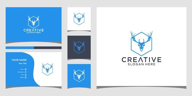 사슴 로고 디자인