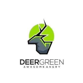 Deer logo illustration abstract