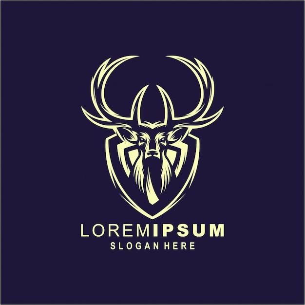Deer logo illustration premium