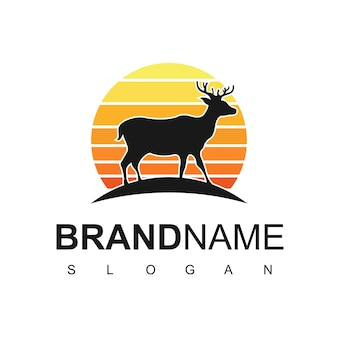 Deer logo illustration