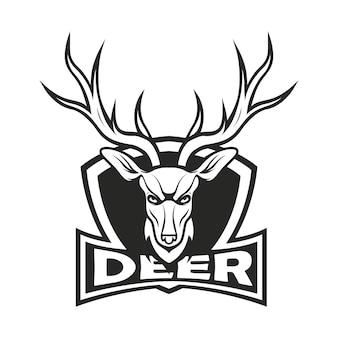 Deer logo mascot design