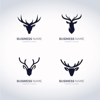 Deer logo set