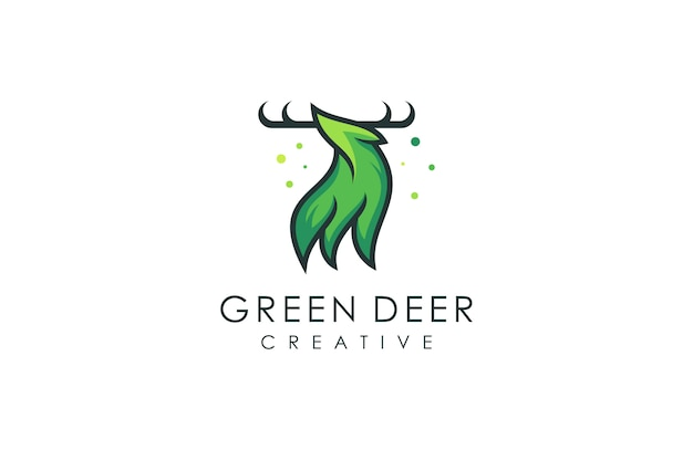 Deer logo, vector illustration of a modern animal with an abstract concept