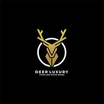 Deer luxury geometric   logo.
