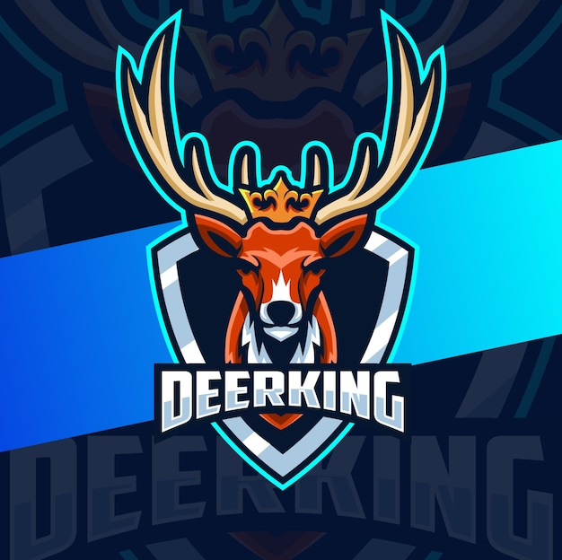 Deer mascot esport esport design