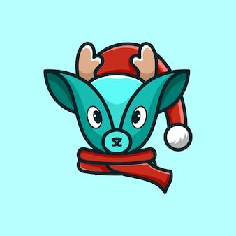 鹿のマスコットのロゴデザインベクトルイラスト