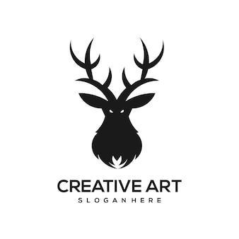 Олень талисман дизайн логотипа винтаж