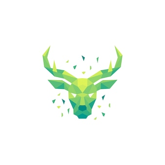 Deer polygon concept illustration