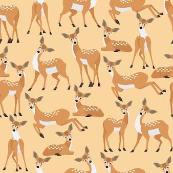 Deer seamless pattern