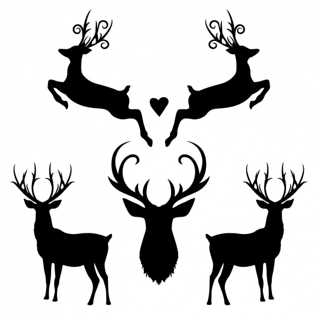 deer vectors photos and psd files free download rh freepik com deer skull silhouette vector deer skull silhouette vector