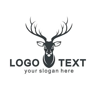 Deer silhouette logo vektor