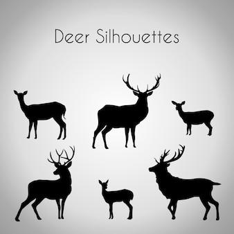 Deer silhouette pack