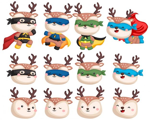 Deer superhero collection