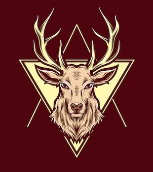 Deer vector head
