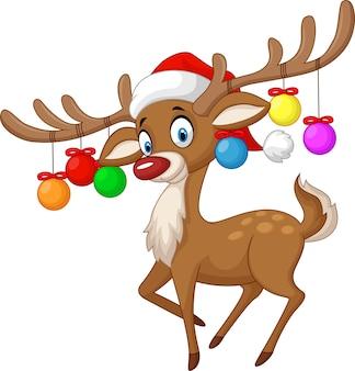 Deer with christmas ball