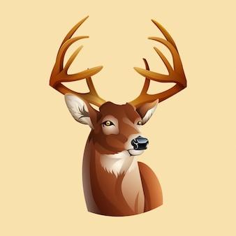 Deer with long antlers