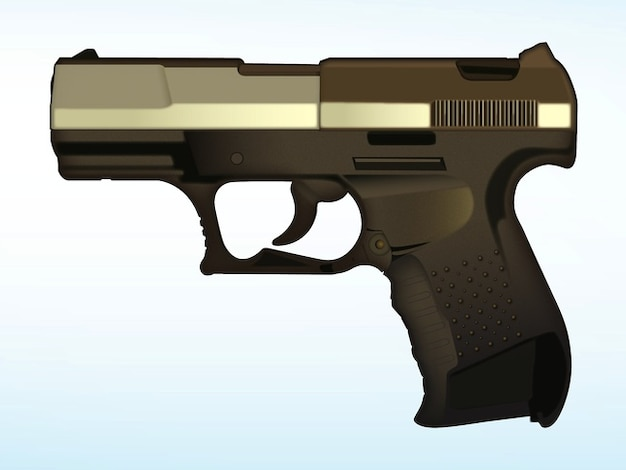 Defence gangster crime gun vector