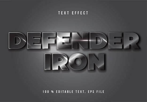 Defenderの編集可能なフォント効果