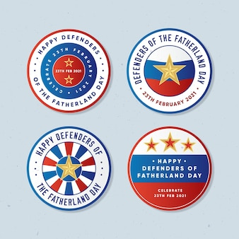 Defenders of fatherland day label collection