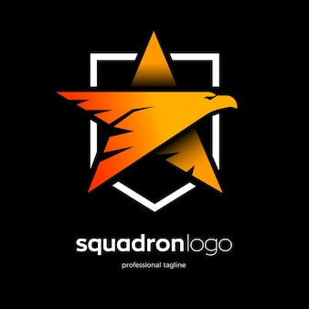 Defense eagle logo with star