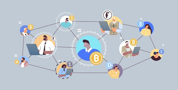 Defi decentralized finance system cryptocurrency and blockchain technology concept horizontal