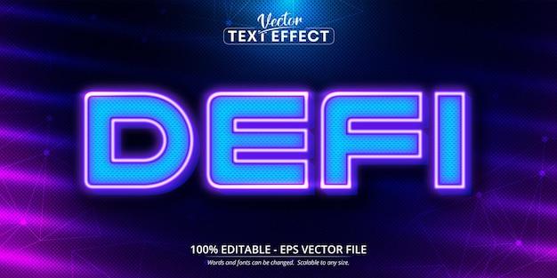 Defi 편집 가능한 텍스트 효과