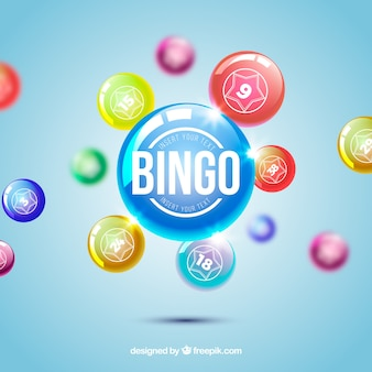 Defocused background of bingo balls
