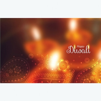 Defocused background with floral details of diwali