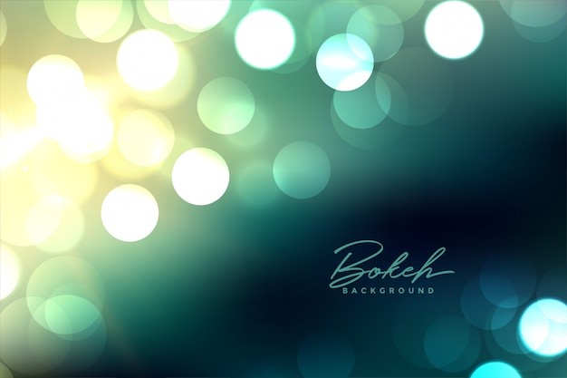 Defocused blurred bokeh lights background