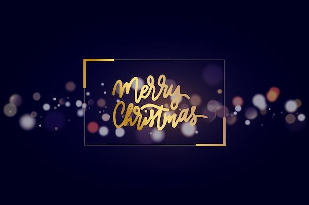 焦点がぼけたクリスマスライトの背景ベクトル図