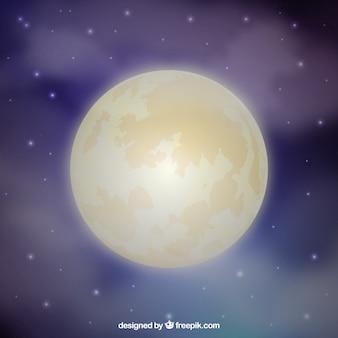 Defocused moon background